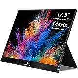 NexiGo 144Hz 17.3 Inch Portable Gaming Monitor, FHD IPS Computer Display, Dual Speakers Eye Care...