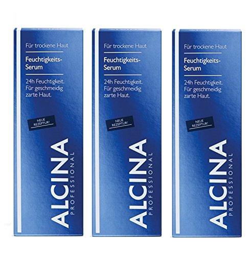 3er Feuchtigkeitsserum pflegende Kosmetik Alcina 24H Feuchtigkeit für geschmeidig zarte Haut je 30 ml = 60 ml