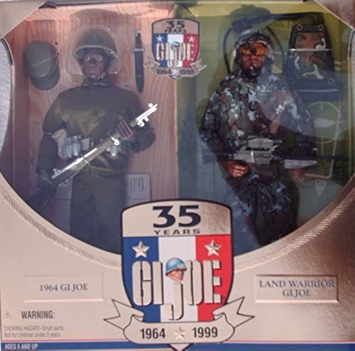G.I. Joe 35th Anniversary Action Soldier Then & Now African-American 12 Action Figure Set W 35th Anniversary Embroiderot Patch (1999 Hasbro) by G. I. Joe