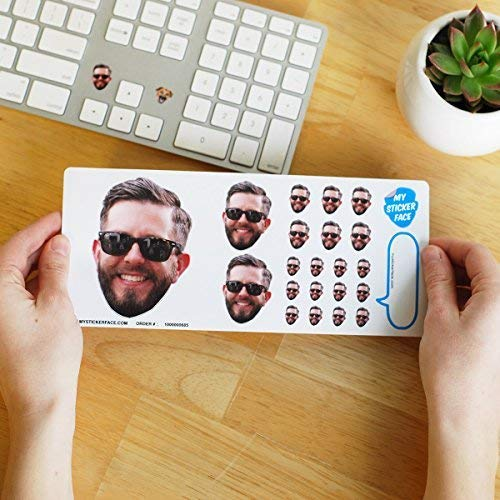 a sheet of Custom Face Stickers - funny college student gift idea