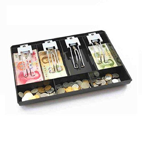 GUANHE Casella del registratore di cassa Nuovo negozio Classificare Moneta da cassa Scatola da cassetto Vassoio Porta monete e Bill
