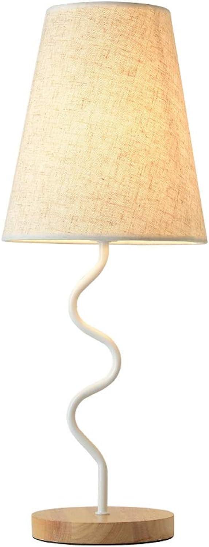 Raelf Kreative Einfachheit Hotel Wohnzimmer Lampe Moderne Einfachheit Umweltsicherheit Schlafzimmer Nachttischlampe Warme Schlafzimmer Dekoriert Tischlampe Metall Tischlampe (Farbe   Weiß)