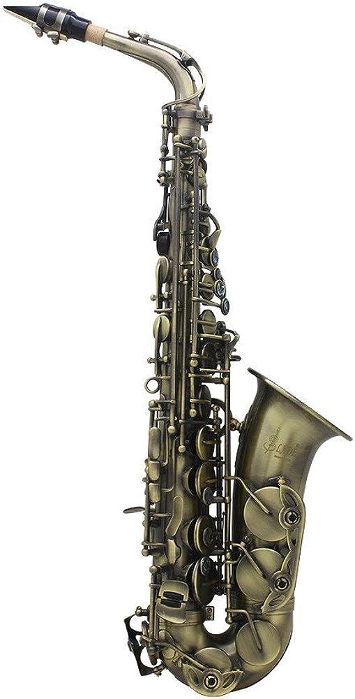 Ammoon - sassofono contralto di alta qualità, finitura anticata, con custodia ZGJ5096751128333HR_SML