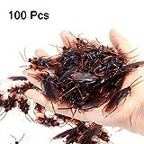 Amosfun 100 unids Broma Falsa cucaracha Novedad cucarachas Insectos se Ven Insectos de Miedo realistas cucarachas...