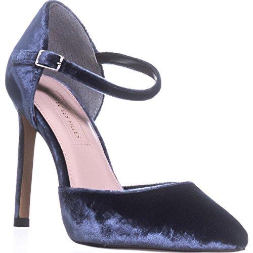 Avec Les Filles Womens Carly Velvet Pointed Toe Ankle