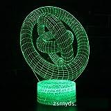 Serie abstracta Figura geométrica estereoscópica Forma especial Lámpara de mesa LED Regalos creativos para niños Visual 3D LED Luz nocturna Novedad Luminaria Niños