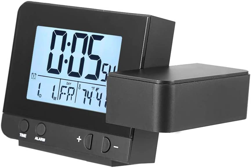 Clock Projection Snooze Function Black Rotatable Dual Austin Mall Courier shipping free Clo Alarm