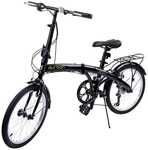 Bicicleta Eco+ Dobravel, Aro 20, 6 velocidades, Durban, Preta