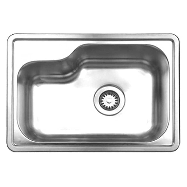 海軍発表する海嶺Whitehaus WHND1913-BSS Noah's Collection 22-1/2-Inch Single Bowl Drop-Ink Sink, Brushed Stainless Steel by Whitehaus Collection