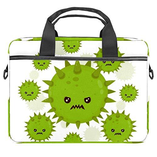 Microbe Pathogen Virus Icon Laptoptasche aus Segeltuch, für 13,4-14,5 Zoll Apple MacBook Laptop Aktentasche