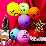 Gejoy 24 Stück Ich Liebe 80 Jahre Luftballons Sortiert Farbe Latex 80 Jahre Luftballons für 1980er Jahre Retro Themen Dekorationen Geburtstag Party - 4
