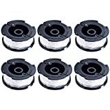 NEW [PACK OF 6] AF-100 Trimmer String Line Replacement Spool by Blue Stars - Autofeed Spools Compatible with Black+Decker String Trimmers   30-Foot 0.065-Inch Line   Weed Wacker Eater Trimming Machine