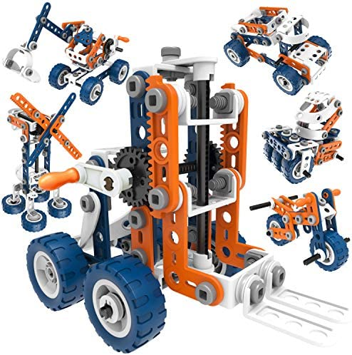 12 in 1 Stem Kit Toy for Kids 152 Piece Construction Building Set and Education Learning Engineering product image
