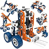 12-in-1 Stem Kit Toy for Kids - 152 Piece Construction Building Set and Education Learning Engineering Kit for Boys and Girls Ages 5 6 7 8 9 10 11 12 Years Old, Idea