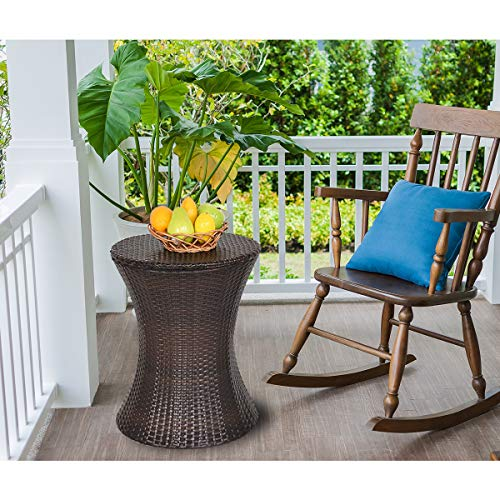 Giantex Outdoor Rattan Style Patio Cooler