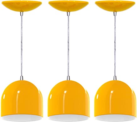 Kit 3 Pendentes Bullet (Amarelo/Branco)