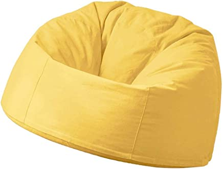 AEURX Cozy Bean Bag Chair Adult lazy Sofa Lounger Heat-resistant Anti-fouling Indoor And Outdoor Living Room Balcony Leisure 90x100cm  Color Yellow
