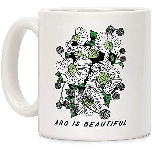 Aro ist schöne weiße 11 Unzen Keramik Kaffeebecher