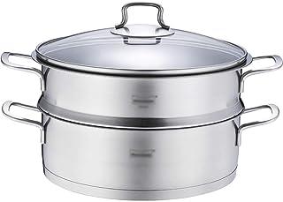 Vaporizador de Acero Inoxidable 304 / Olla de Sopa 1 Capa Hogar con vaporizador 26 cm Engrosado Adecuado para Estufa de Gas/Cocina de inducción Adecuado para 2-4 Personas