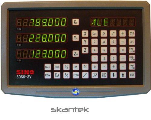 SINO Digitalanzeige für Werkzeugmaschinen / Zur Darstellung von drei Achsen / Typ SDS6-3V3