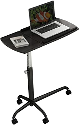 Folding Table CHUNLAN Portable Laptop Table Adjustable Height, Angle It Can Move Lazy Table