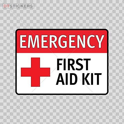 Vinyl Sticker Decal Emergency First Aid Kit Safety Sign Sticker Decal Vinyl Cross Atv Car Garage Bi D217 8XAX9