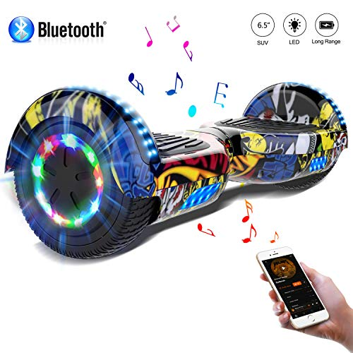 COLORWAY 6,5 Zoll LED Elektro Scooter Hover Scooter Board Smart Scooter mit Bluetooth Self Balance Board EU Sicherheitsstandards