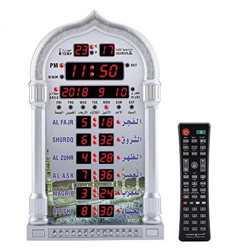 Gebetsuhr-Muslimische Azan Alarm Wanduhr, Azan Gebet Uhr, Digitale Muslimische Gebet Alarm Athan Islam für Gebet muslimische Gebet Geschenk, EU-Stecker●Deutscher Anbieter●