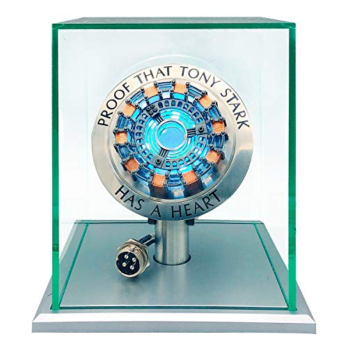 Iron Man Arc Reactor Iron Man Giocattolo 1:1 MK1,DIY USB Finished Product,Vibration Sensing,LED Light,USB Interface,No Assembly Required,no Remote Control Required,Toys Gift(with Display Case)