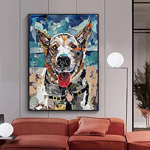 LangGe Impresión en Lienzo 40x60 cm sin Marco Abstracto Noble Dama Lienzo Pintura cóctel Moderno Imagen de niña Sala de Estar decoración del hogar