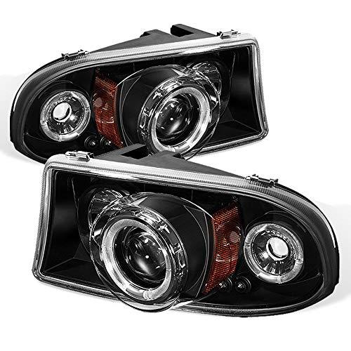 ACANII - For 1997-2004 Dodge Dakota 98-03 Durango LED Halo Black Projector Headlights w/Corner, Driver & Passenger Side