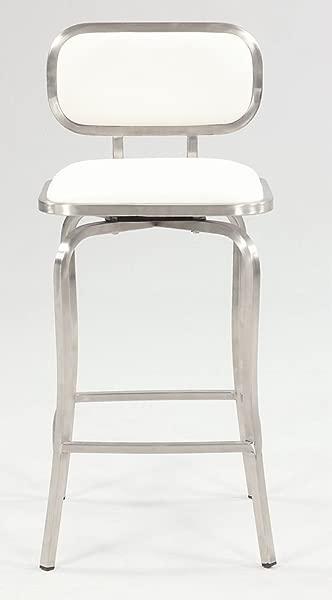 现代白色旋转凳子柜台