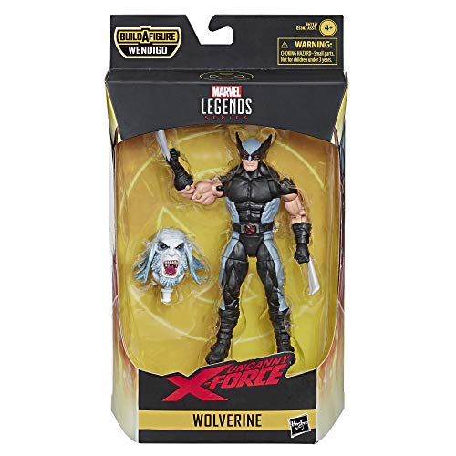 Hasbro Marvel Legends Series Figura de acción coleccionable de juguete Wolverine (X-Men/X-Force Collection) – con parte Wendigo Build-a-Figure