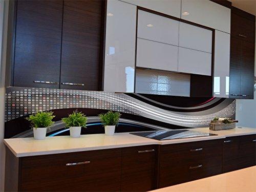 dalinda® Pizarra de Cocina con diseño Black Waves KR115