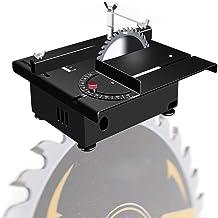 HTDHS Sierra de Mesa de precisión, Mini Mesa eléctrica Sierra 100W con Eje Flexible y Regla de ángulo, máx.Profundidad de Corte 30 mm / 1.18