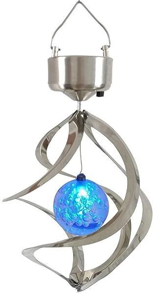 StillCool 太阳能风铃 LED 变色悬挂风灯防水螺旋旋转灯花园庭院草坪阳台门廊