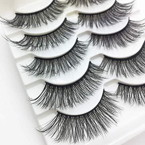 5 paires de cils de vison 3D naturel faux cils 3d de cils de vison extension de cils mous Kit de maquillage Cilios (Color : 4)
