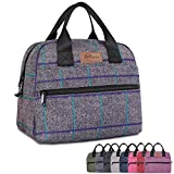HOMESPON Insulated Lunch Bag Lunch Box Cooler Tote Box Cooler Bag Lunch Container for Women/Men/Work/Picnic (large grey plaid)