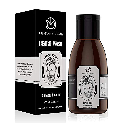 The Man Company Beard Wash For Growth - Almond And Thyme (100 Ml) | Made in India