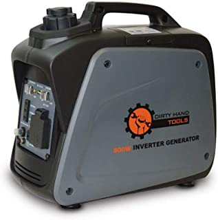 Dirty Hand Tools | 104609 | 800 Watt 5.8 Amp Gas Powered Inverter Generator | Portable Power Supply | EPA/CARB Certified | 7 Hour Run Time | 1-120V AC Outlets, 1-12V DC Outlet, 1-USB Port