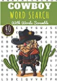 Cowboy Word Search: 40 puzzles | Challenging Puzzle Brain book For Adults and Kids | More than 300 words about on Cowboys of Far West, Western Horseback Cow-boy, Lasso and sheriff's star.