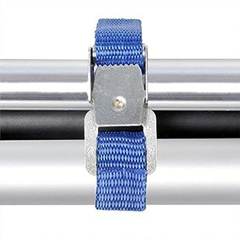 ProPlus Lot de 4 sangles de fixation pour porte-vélos - 40 cm - Boucles en métal