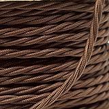 ktjes 5 Metros 3 Núcleo del Cable Cable marrón Antiguo de la Vendimia Malla...