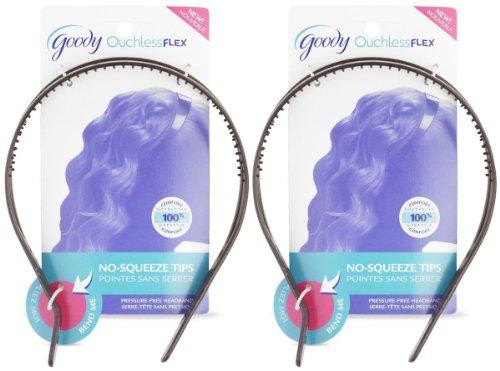 Goody Ouchless Flex 2, Strand Pressure, Free Headband, 1 ct, 2 pk