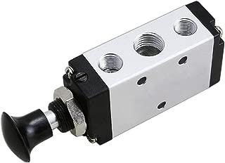 BestTong Manual Hand Pull Push Solenoid Valve 5 Way 2 Position Pneumatic 3/8