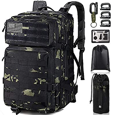 Military Tactical Backpack,Monoki Army 3 Day Assault Pack,42L Molle Bag Rucksack