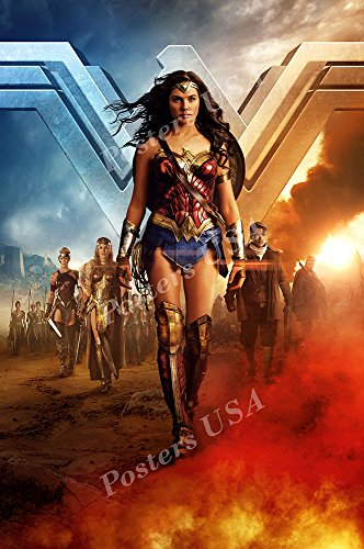 Posters USA DC Wonder Woman Textless GLOSSY FINISH Movie Poster - FIL513 (24' x 36' (61cm x 91.5cm))
