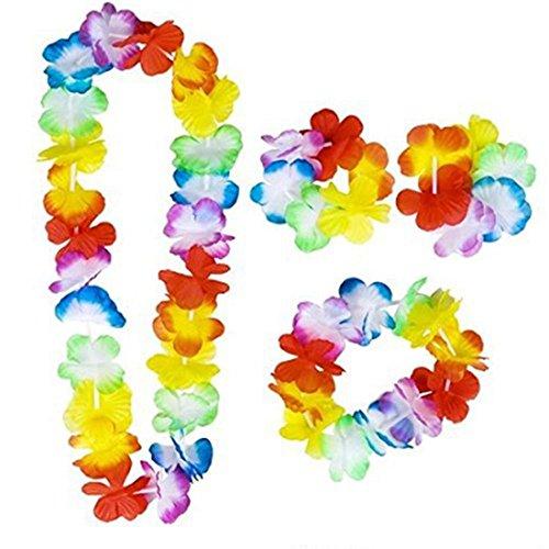 yuese Collar de corona artificial para mujer, niña, playa, fiesta tropical (color: A)