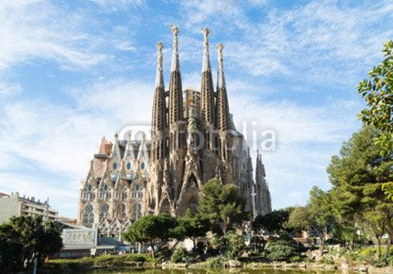 Canvas image 60 x 40 cm   Sagrada Familia in Barcelona, Spain , image on a Canvas