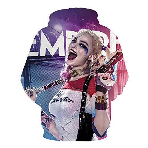 New Suicide Squad Joker Harley Quinn 3D Print Sweatshirt Men Women Funny Hoodies Cool Streetwear Hip Hop Pullovers Moleton-We-1339_XXS
